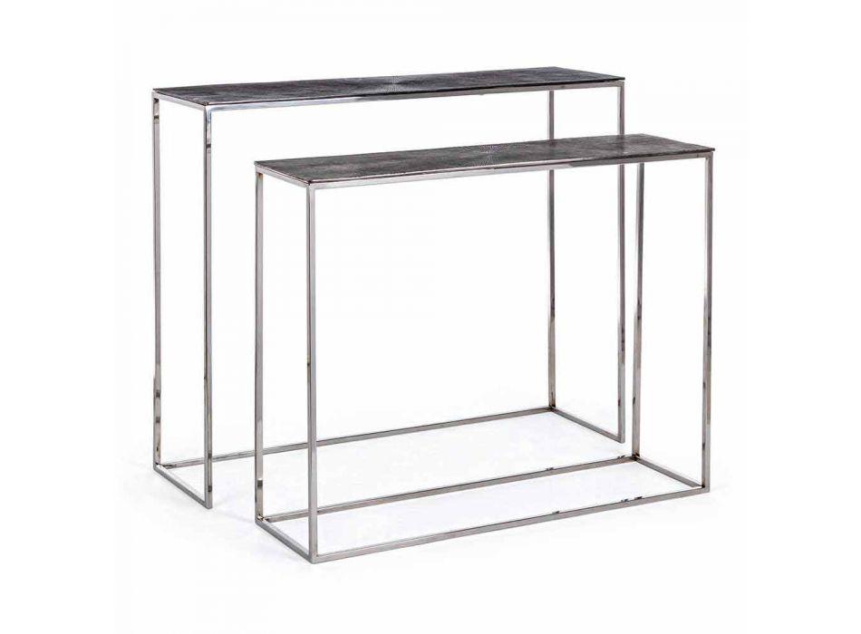 2 Konsola ze stali i platerowanego aluminium Modern Design Homemotion - Narnia