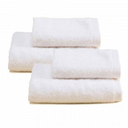 2 pary kolorowych bawełnianych ręczników frotte do łazienki - Vuitton