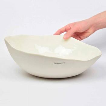 2 miski sałatkowe z białej porcelany Wyjątkowe kawałki włoskiego designu - Arciconcreto
