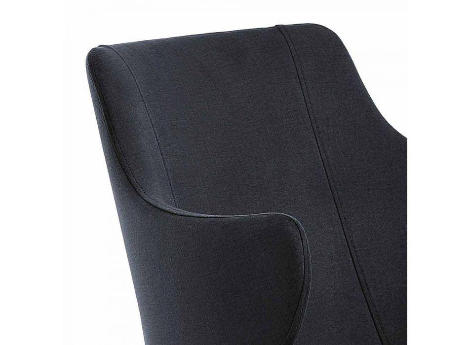 2 Eleganckie Fotele Salonowe Kolorowa Tkanina i Czarny Metal - Księżna