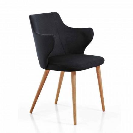 2 Zaprojektuj fotele do jadalni z kolorowej tkaniny i jesionu - księżna