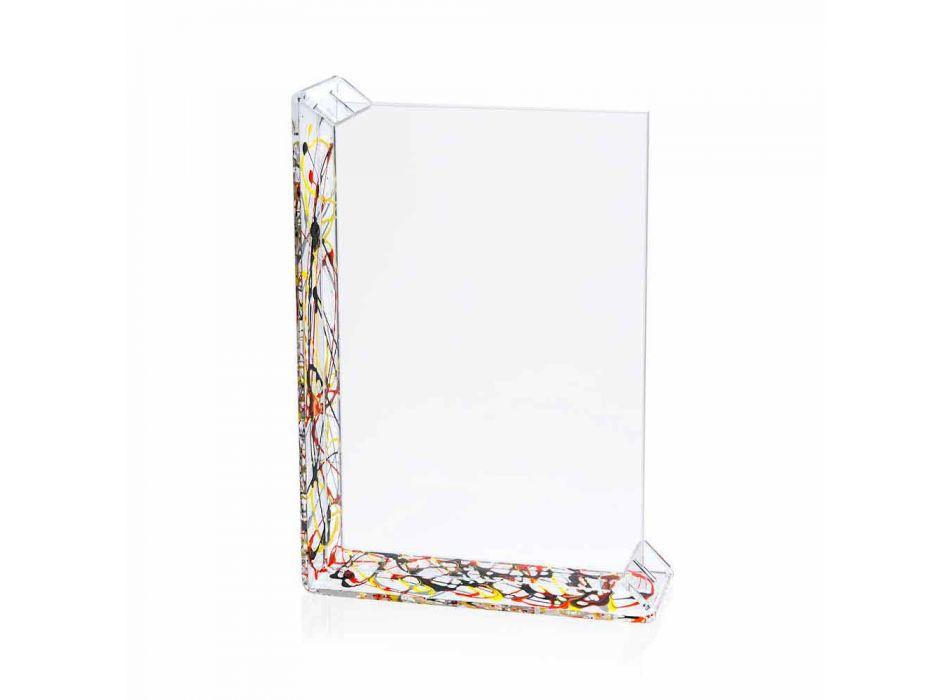2 Ramka na zdjęcia na stół z kolorowej pleksi lub z drewnem - Menelao