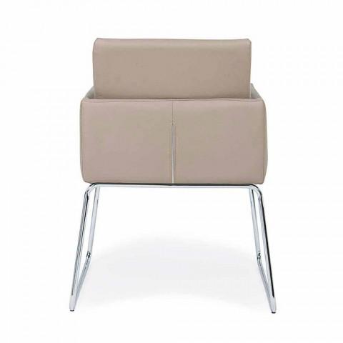 2 krzesła z podłokietnikami pokrytymi sztuczną skórą Modern Design Homemotion - Farra