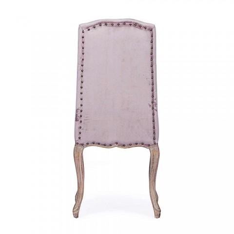 2 krzesła do jadalni z tapicerowanym i tapicerowanym siedziskiem Homemotion - Mania