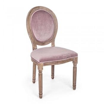 2 klasyczne krzesła do jadalni z poliestru Homemotion - Dalida