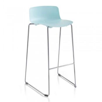 2 wysokie stołki z metalu i polipropylenu Made in Italy - Chrissie
