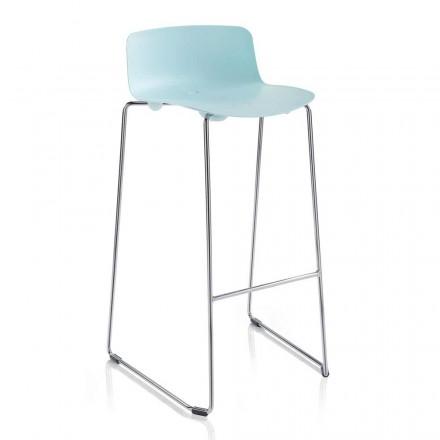 2 wysokie stołki barowe z metalu i polipropylenu Made in Italy - Chrissie