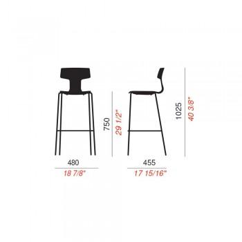 2 stołki ogrodowe do ustawiania w stosy wykonane z metalu i polipropylenu Made in Italy Annice