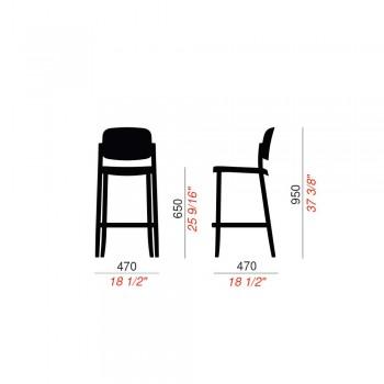 2 stołki ogrodowe z możliwością układania w stosy z polipropylenu Made in Italy - Calista