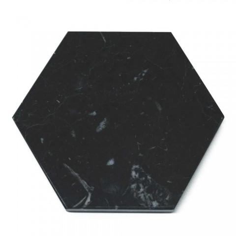2 sześciokątne podstawki z białego, czarnego lub zielonego marmuru Made in Italy - Paulo