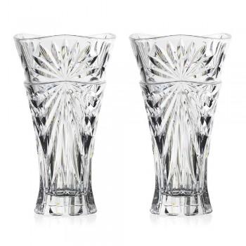 2 wazony do dekoracji stołu z wyjątkowego ekologicznego kryształu - Daniele