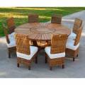 Stół okrągły z masywnego teak Real Table