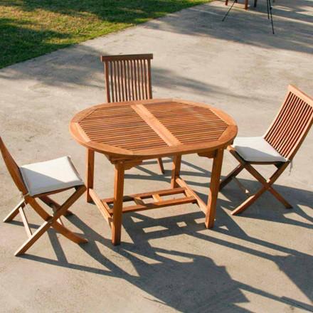 Stół z teak rozkładany do ogrodu Lipari