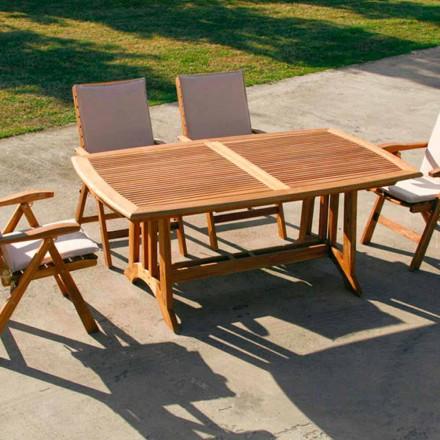 Stół z teak rozkładany do ogrodu Amalfi