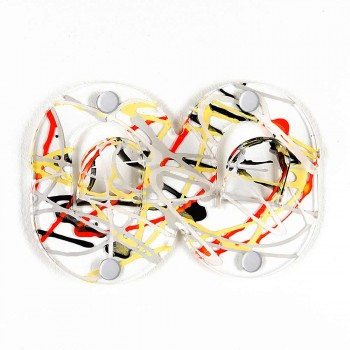 3 wieszaki ścienne z kolorowego plexi, podwójne włoskie wzornictwo z klipsem - Freddie