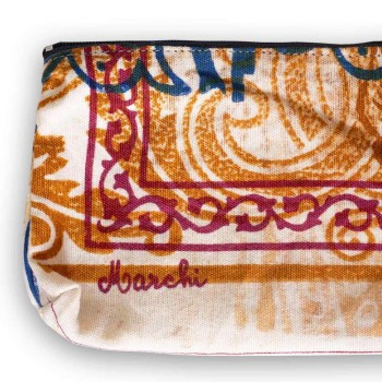 3 ręcznie drukowane bawełniane kopertówki w unikalnych kawałkach - Viadurini by Marchi