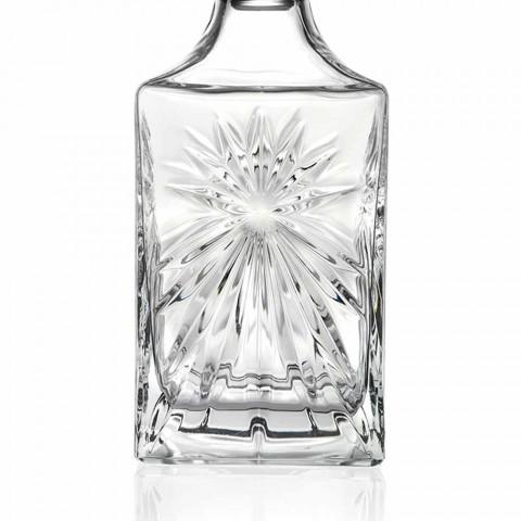 4 butelki whisky z kwadratowym wzorem zakrętki Eco Crystal - Daniele