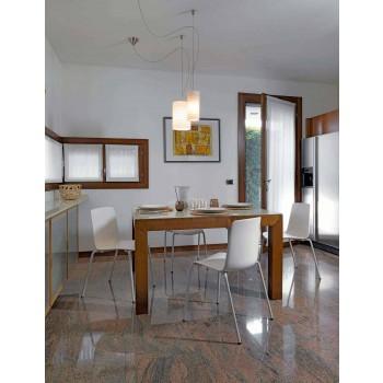 4 krzesła ogrodowe z możliwością układania w stosy wykonane z metalu i polipropylenu Made in Italy - Carita