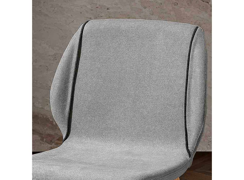 4 eleganckie, nowoczesne krzesła do salonu z tkaniny z obramowaniem - Scarat