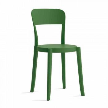 4 krzesła z polipropylenu do ustawiania w stosy Made in Italy Design - Alexus