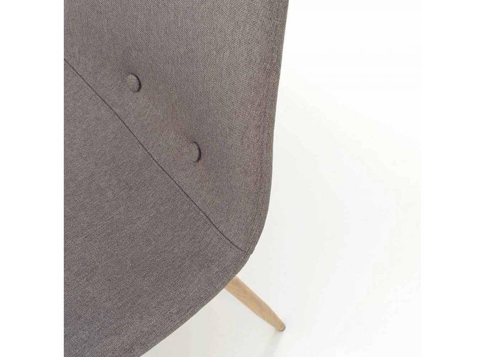 4 krzesła do jadalni z siedziskiem z tkaniny i metalową konstrukcją - Pampa