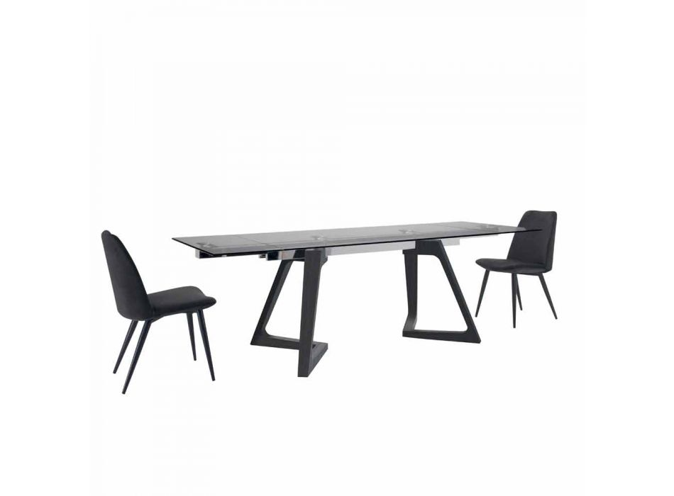 4 tapicerowane krzesła do jadalni tapicerowane aksamitem Made in Italy - ziarno