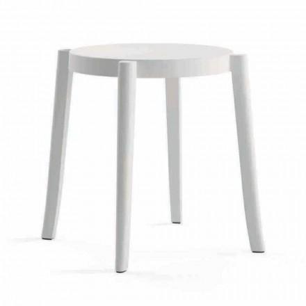 4 nowoczesne stołki ogrodowe z możliwością układania w stosy z polipropylenu Wykonane we Włoszech - Anona