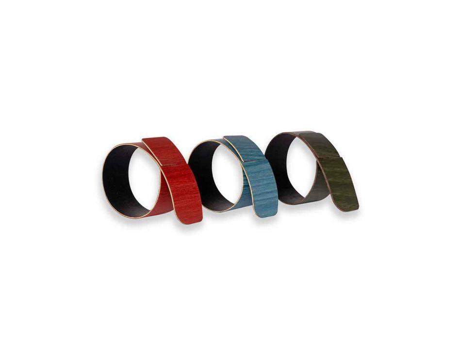 6 designerskich pierścionków na serwetki w różnych kolorach Made in Italy - Nocnik