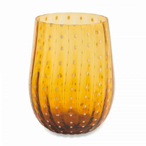 6 kolorowych i nowoczesnych szklanych szklanek do wody Elegancka usługa - Persja