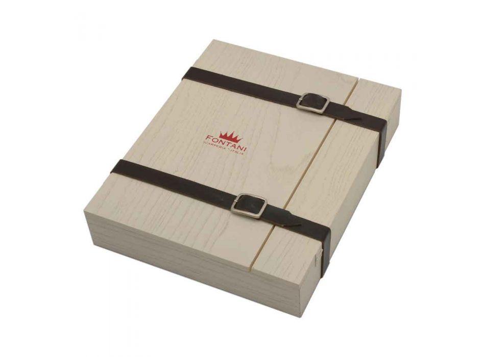 6 noży kuchennych Artisan z rękojeścią z rogu wołowego Made in Italy - Marino