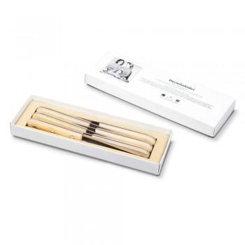 6 noży stołowych 2012 Berti ze stali nierdzewnej Exclusive dla Viadurini - Annico