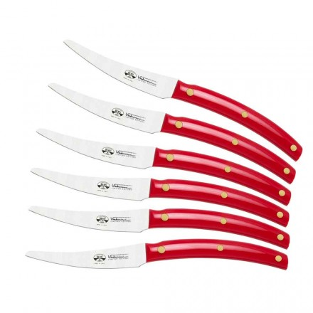 6 noży stołowych Wyprodukowano we Włoszech, Berti wyłącznie dla Viadurini - Alserio
