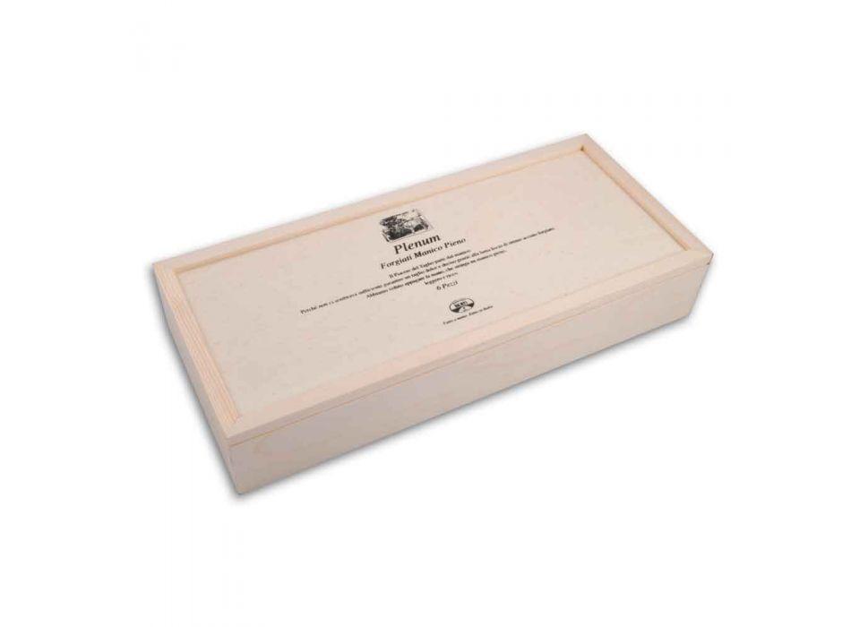 6 noży z gładkim ostrzem Berti Plenum, dostępne wyłącznie w Viadurini - Andalo