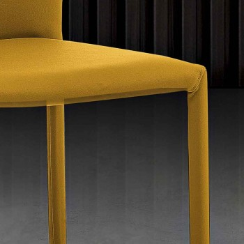 6 krzeseł do układania w stos z kolorowej ekoskóry w nowoczesnym stylu do salonu - Merida