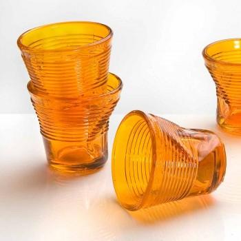 6 filiżanek zmiętych szklanek w kolorowym szkle - Sarabi