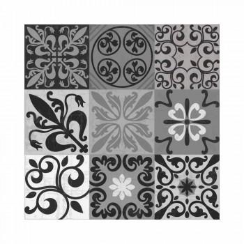 6 eleganckich podkładek z PVC i poliestru w czarny lub szary wzór - Pita