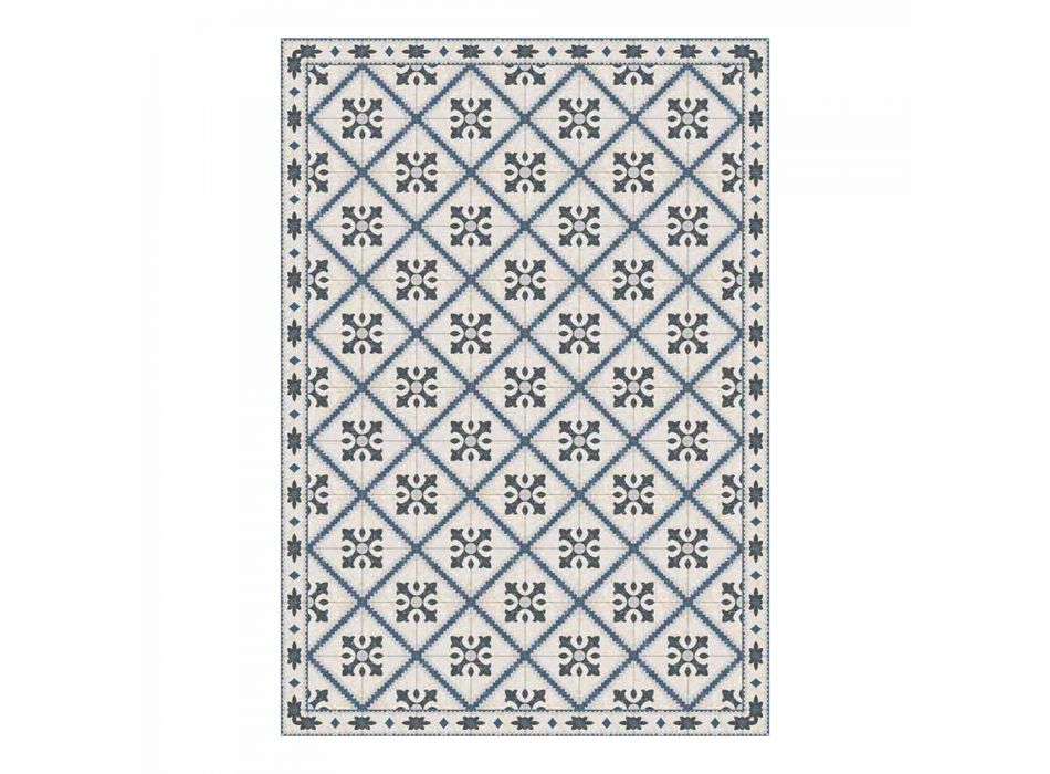 6 prostokątnych podkładek z PVC i poliestru we wzorzyste wzory - Berimo