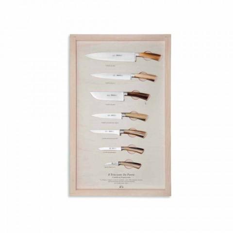7 noży ściennych ze stali nierdzewnej Berti Exclusive for Viadurini - Modigliani