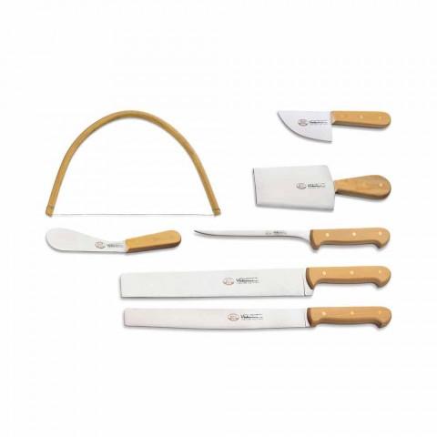 7 włoskich noży ze stali nierdzewnej Berti Exclusive for Viadurini - Alessano