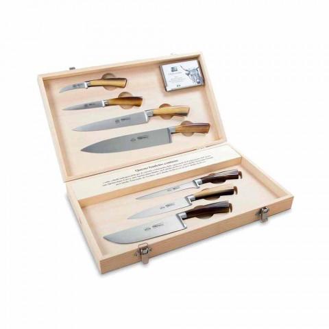 7 włoskich noży Berti ze stali nierdzewnej wyłącznie dla Viadurini - Goya