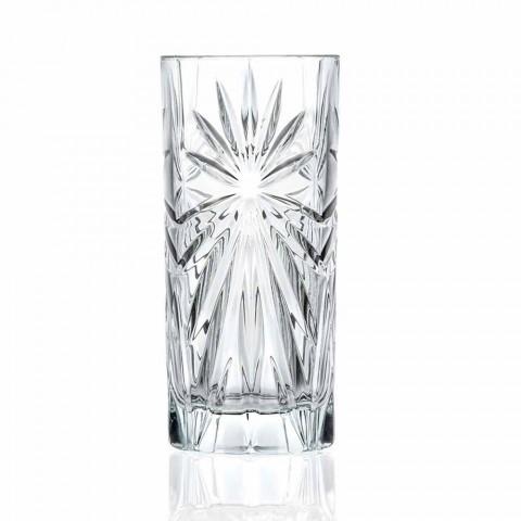 8 Wysokich Szklanek Highball Tumbler do koktajli Eco Crystal - Malgioglio