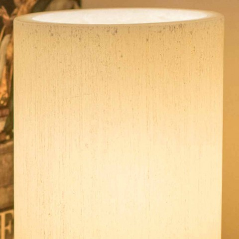 Cylindryczny Abat-jour z efektem porysowania wosku zapachowego Made in Italy - Donata
