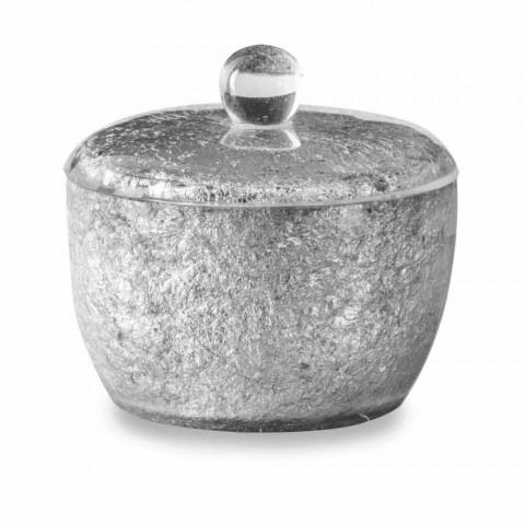 Akcesoria łazienkowe pokryte żywicą w kolorze srebrnym - argentyńskie