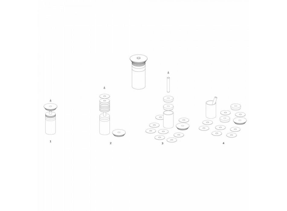 Akcesoria do aperitifów Instrumenty koktajlowe z marmuru, drewna i stali - Norman