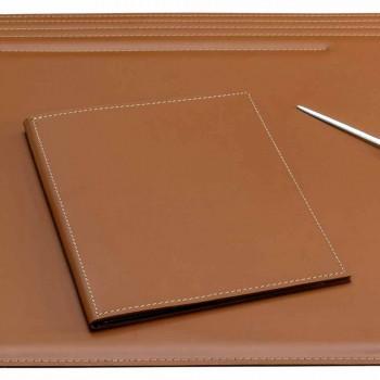 Akcesoria na biurko ze skóry regenerowanej 5 sztuk Made in Italy - Ebe