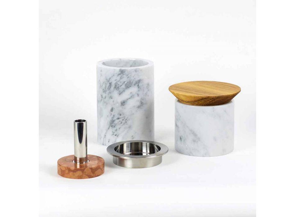 Akcesoria oszczędzające miejsce do narzędzi kuchennych z marmuru, drewna i stali - Astoria