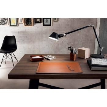 Akcesoria 4-częściowe biurko z regenerowanej skóry Made in Italy - Ascanio