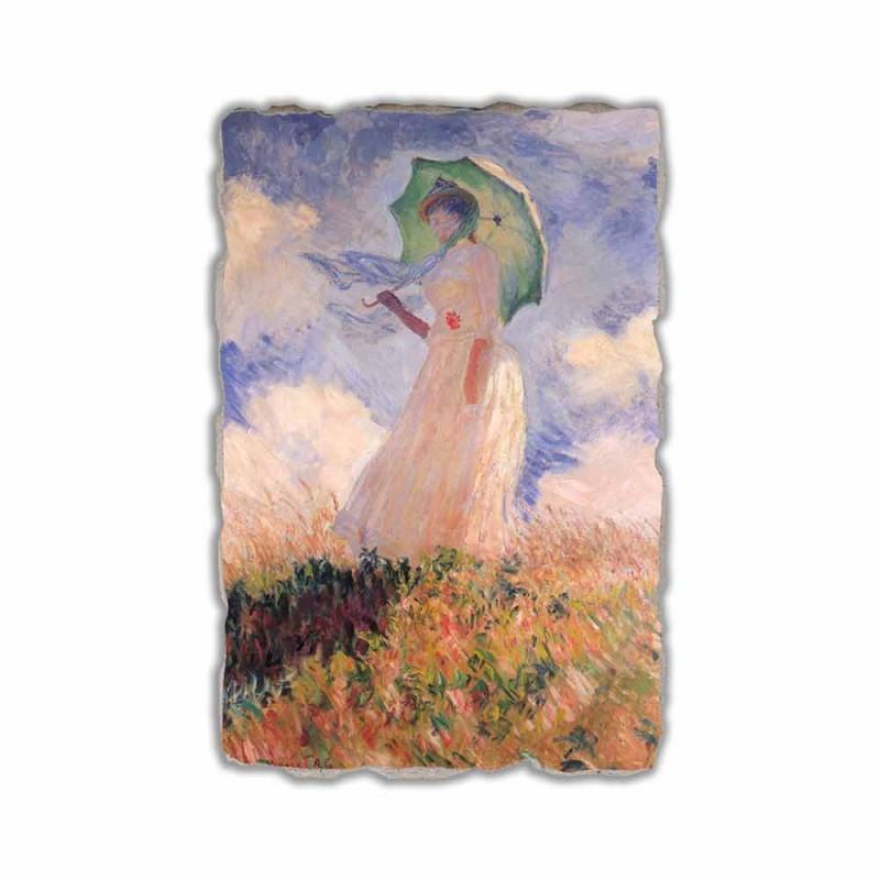 """Fresco Calude Moneta """"Kobieta z parasolem odwrócił się w lewo"""""""