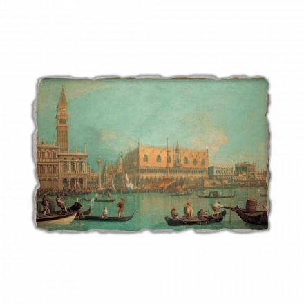 """Canalletto """" Widok Palazzo Ducale di Venezia"""" freski wykonane ręcznie"""