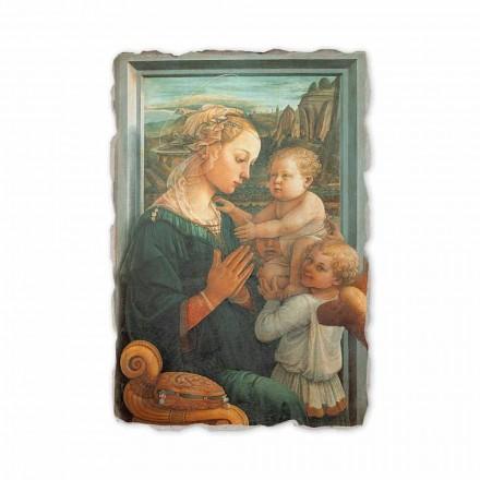"""Freski Filippo Lippi """" Matka Boska z Dzieciątkiem"""" wykonane we włoszech"""